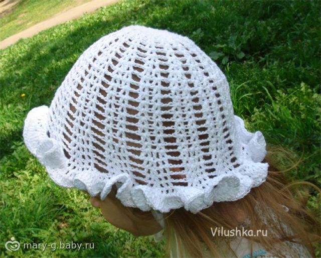 Летнюю шапку для девочки,