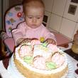 Вот сейчас попробую свой первый тортик – на первый зубик!
