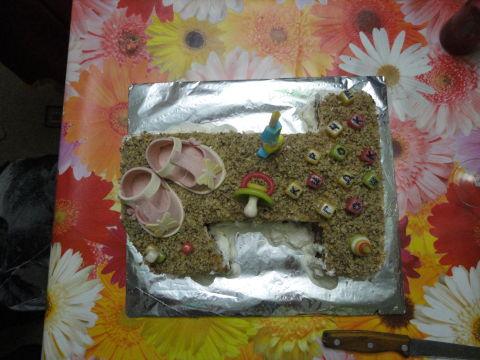 Тортик доченьке на годик!!!