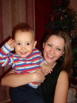 моя доченька с младшим братиком!